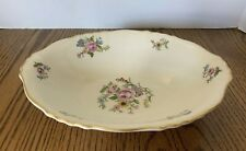 "Syracuse Portland Federal Shape China 9"" Oval Vegetable Bowl Floral Gold Trim"