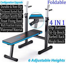 UK STOCK Adjustable/Folding Flat Weight Bench & Dip Station Lifting/Chest Press