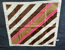 Totes rain scarf 1975 Vtg in tube with instructions brown pink diagonal stripe