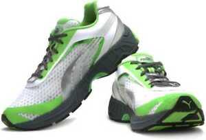 Puma Faas 700 White / Jasmine Green Mesh Running Shoes Trainers UK 9.5 , 10.5