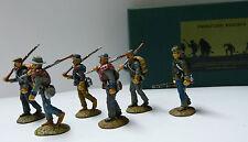 Frontline Figures, 6 marschierende sudistas, Confederate infantry, 1/32, aci10