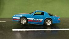 Blue Tyco 1:64 Scale Chevy Camaro Z28 Slot Car w/HP-2 Chassis Lighted