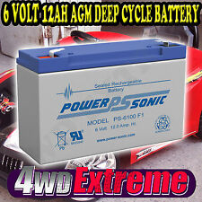 BATTERY PS6100F1 AGM SLA 6V  6 VOLT 12AH RIDE ON TOY CAR RECHARGEABLE DEEP CYCLE