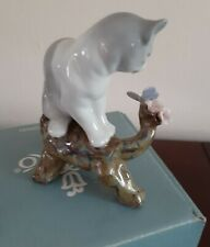 New Lladro #8382 Blossoms For The Kitten Vintage 2008 in Mint Condition Bnib