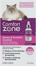 (2 Pack) Comfort Zone Spray and Scratch Control Calming Spray for Cats 2oz