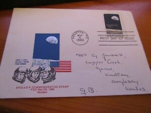 APOLLO 8 COMMEMORATIVE STAMP FDC MAY 5th 1969   FIRST DAY OF ISSUE