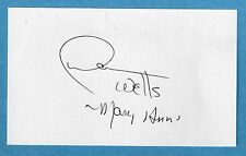 DAWN WELLS Signed Index Card - Mary Ann Gilligan's Island Autograph Auto