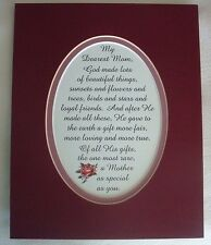 MOM Loving GOD Made MOTHER Rare GIFT Special Loyal FRIEND verses poems plaques