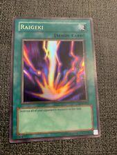 YuGiOh - Raigeki - LOB-053 - Super Rare - Unlimited Edition - VLP
