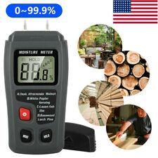 Lcd Digital Wood Moisture Meter Analyzer Humidity Tester Timber Damp Detector