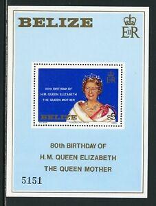 Belize Scott #524 MNH S/S Queen Mother Elizabeth's 80th Birthday CV$18+