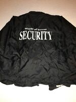 Vtg 90s Gyros World Of Terror Haunted House Fear grounds Security Jacket 2xl