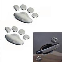 Silver Emblem Decal Animal Bear Paw Truck Car Sticker Footprints