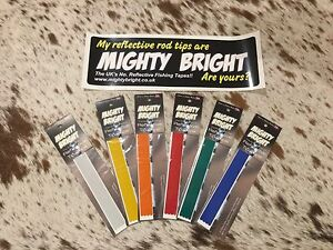 """Mighty Bright Reflective tip tape - 12""""/305mm ORIGINAL RANGE for Sea fishing Rod"""