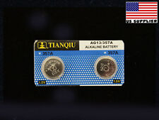 LR44 AG13 357 A76 303 L1154 LR44G LR44H Alkaline 1.5V Battery 2PCS. USA Supplier