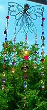 ANGEL SUNCATCHER-CRYSTAL-MULTI-COLOR/GOLD-FLOWER,MOON,HEART-HANDCRAFTED- # 905
