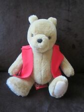 Winnie the Pooh teddy bear seated chubby ol bear with tags excellent soft toy