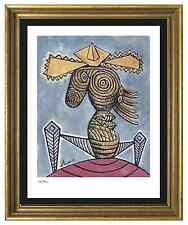 "Pablo Picasso Signed/Hand-Numbered Ltd Ed ""Seated Woman Hat""  Litho (unframed)"