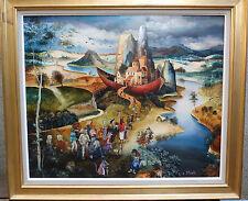 """Isabelle Planté """" Paysage onirique  """" (50x61) huile sur toile encadrée"""