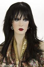 Long Blonde Brunette Red Straight Skin Top Wigs