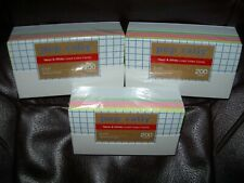 New Lot 3 Packs White Amp Colors Index Cards 200 Each Lined Ruled 600 Total