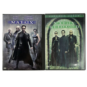 Matrix and Matrix Reloaded REGION 1 USA DVDs Keanu Reeves