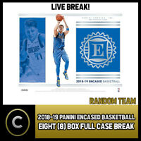 2018-19 PANINI ENCASED BASKETBALL 8 BOX (FULL CASE) BREAK #B188 - RANDOM TEAMS