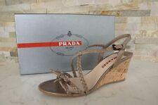 PRADA 39 Escarpins-sandales À Semelles Compensées sandales boue jonc Chaussures