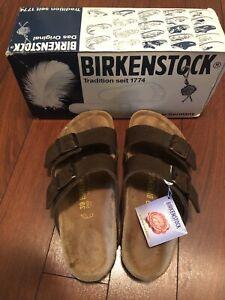 Birkenstock Arizona - Dark Brown Slide Sandals Unisex 39 Women's 8 Men's 6-Used
