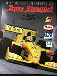 Tony Stewart Signed 1998 Menards Indy 500 Handout