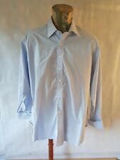 Ede & Ravenscroft Mens Shirt French Cuff Double Pale Blue Long Sleeve Cotton