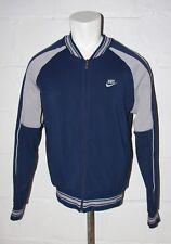 VTG Nike Gray Tag Blue & Gray Full Zip Sweatshirt Jacket Sz L Large NICE WOW