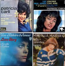 Lot de quatre 45 tours, variétés des années 60 !