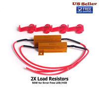 2 pcs Load Resistor 50W 6ohm Fix LED Bulb Hyper Flash Turn Signal Blink Blinker