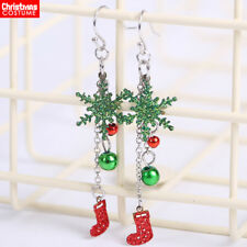Christmas Earrings for Women Grils Xmas Holiday Party Fashion Shiny Jewelry