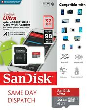 Sandisk 32GB Ultra Micro SD SDHC TF Memory Card 98MBs UHSI Class10 FAST DELIVERY