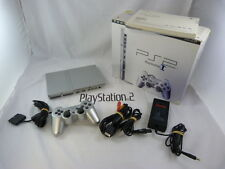 PLAYSTATION 2 SLIM console SATIN SILVER -cib-