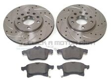 VAUXHALL ZAFIRA MK2 1.6 1.8 FRONT 2 DRILLED GROOVED BRAKE DISCS AND MINTEX PADS