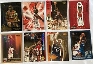 Michael Jordan Basketball Cards Lot Of 8. Inspirations Tops Chrome Sticker + $$$