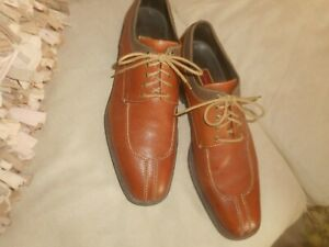 COLE  HAAN  TWO TONE  BROWN   LEATHER  DRESS  OXFORDS  13 M