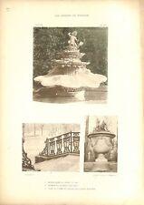 Bassin Jardin du Roi Trianon-sous-bois Château de Versailles GRAVURE 1899