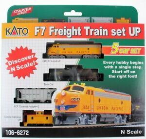 KATO 1066272 N SCALE F7 5 Unit Freight Train Starter Set UP 106-6272