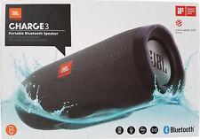 JBL CHARGE 3 Tragbarer Bluetooth-Lautsprecher Wasserdicht Schwarz NEU & OVP***