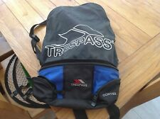BNWOT TRESPASS BICYCLE BACKPACK in BLACK WITH BLUE
