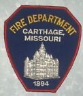 Carthage Fire Dept  Patch - Missouri - vintage - 4 inches x 4 1/2 inches