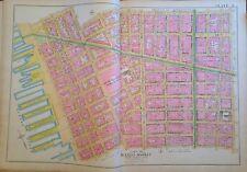 1891 Lower Manhattan Canal St. Soho Little Italy Chinatown Orig Plat Map Atlas