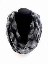 Tie dye infinity scarf double loop lightweight 30 inch by 70 inch