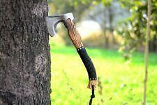 Hand Forged 1095 Carbon Steel Viking Tomahawk, Hatchet, Axe ,Integral, + Sheath