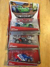 Disney Pixar Cars 2 WGP Carla Veloso Max Schnell Raoul Caroule Diecast Lot