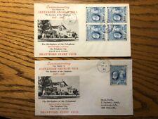 1947 Alexander Graham Bell Canadian Philatelic Society Cover Pair